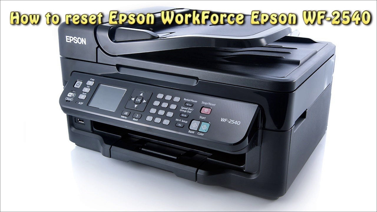 Reset Epson WF 2540 Waste Ink Pad Counter