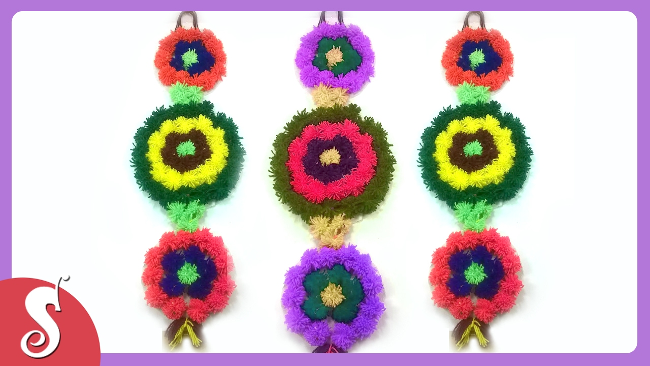 Wall Hanging Ideas wall hanging from woolen-diy wall decor ideas - youtube