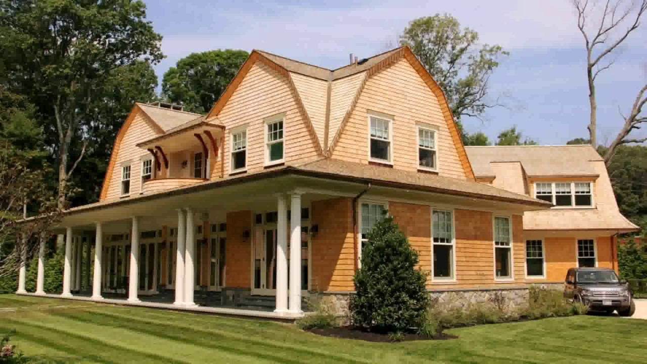 Gambrel roof style house plans youtube for Gambrel roof house plans