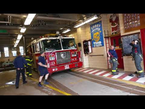 FDNY Battalion 43 and Tower Ladder 161 get toned to the same