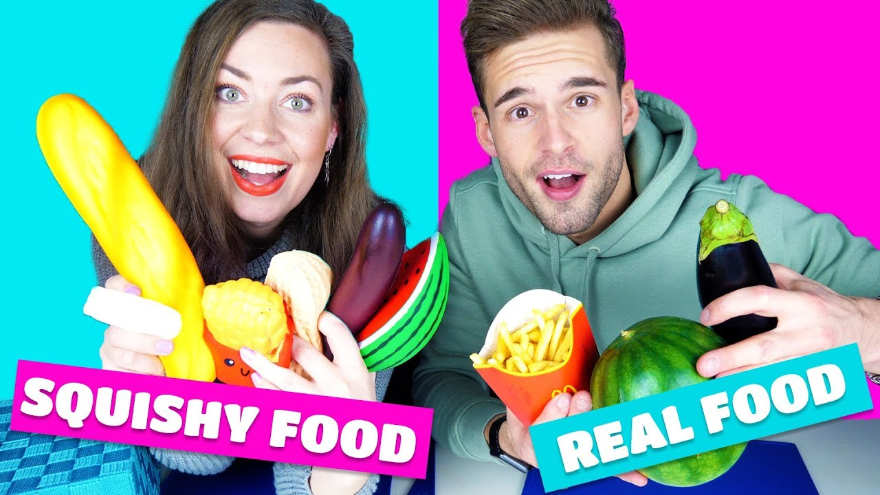 SQUISHY VS REAL FOOD CHALLENGE - YouTube