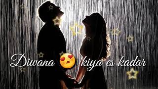 Tune O Jana Diwana Kiya 😍Diwana Kiya 😯  Sad Song For Whatsapp status | Badshah Status Zon