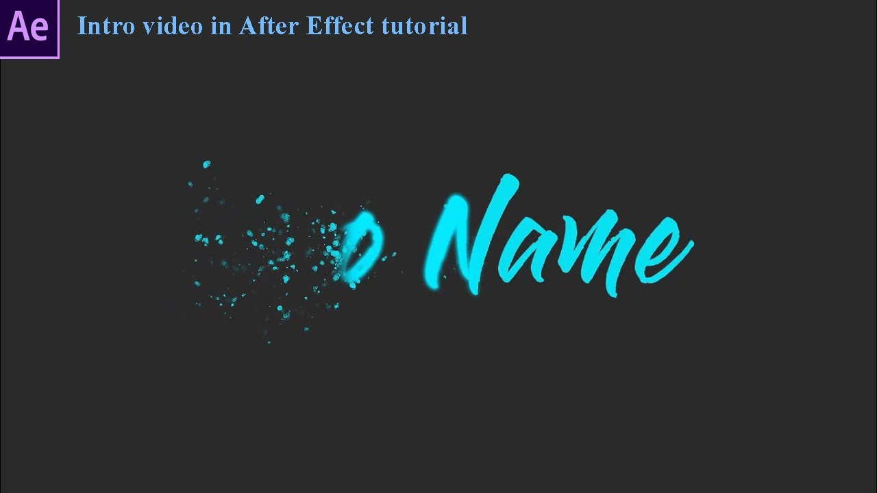 [TMT Schannel] Hướng dẫn tạo intro đơn giản trong after effect cc2019||Template intro