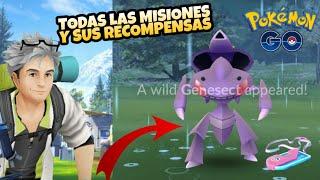 ¡TODAS LAS MISIONES DE INVESTIGACIÓN ESPECIAL DE GENESECT! POKEMON GO !