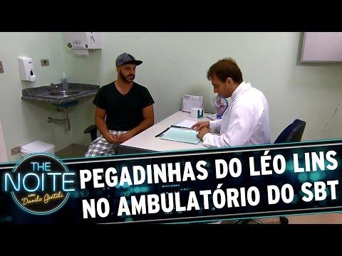 Pegadinhas do Léo Lins no ambulatório do SBT | The Noite (21/03/17)