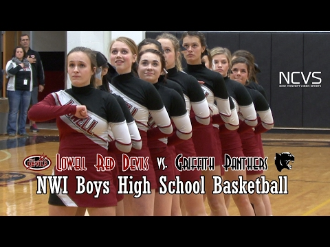 Lowell Red Devils vs Griffith Panthers Boys Basketball 2017