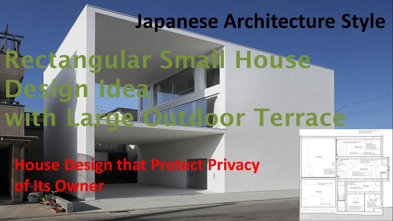 Nice 75 Sqm Rectangular Small House Design Idea With Large Outdoor Terrace