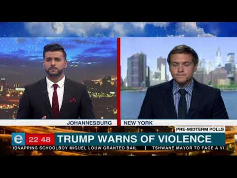US President Donald Trump warns of violence
