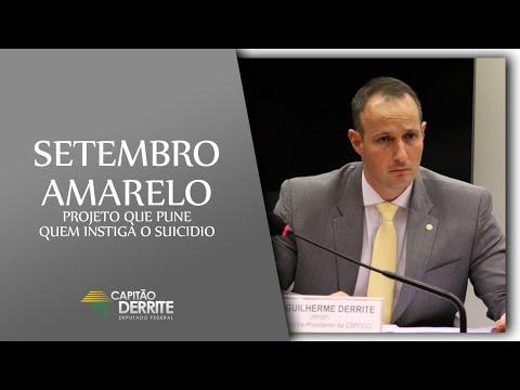 Setembro Amarelo - Projeto de Lei que pune quem instiga o suicídio!