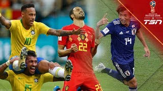 All 7 Goals from Day 18 of the World Cup