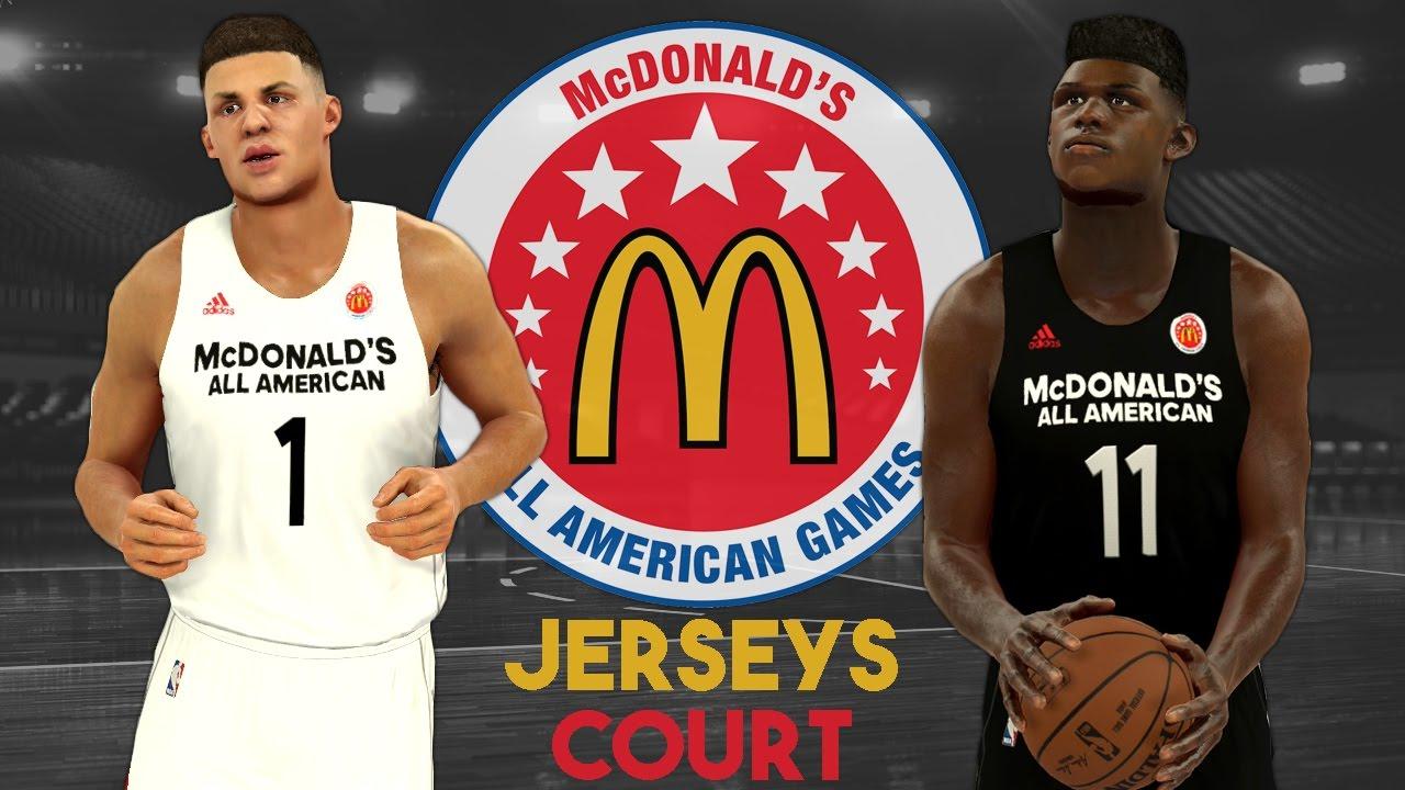 NBA 2K17 - 2017 McDonald s All American Jersey   Court Tutorial ... da78d524e
