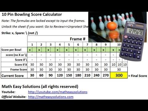 10 Pin Bowling Calculator - Free Download! - YouTube