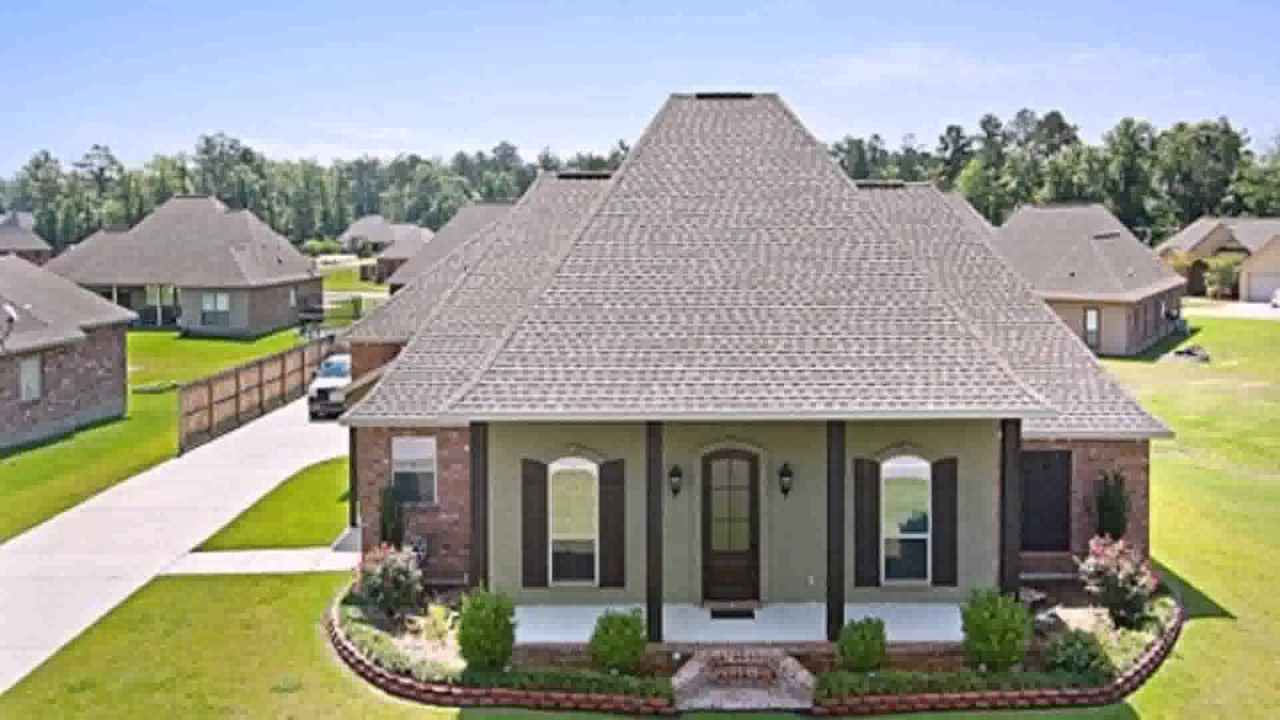 Acadian style homes pictures youtube for Acadiana home builders