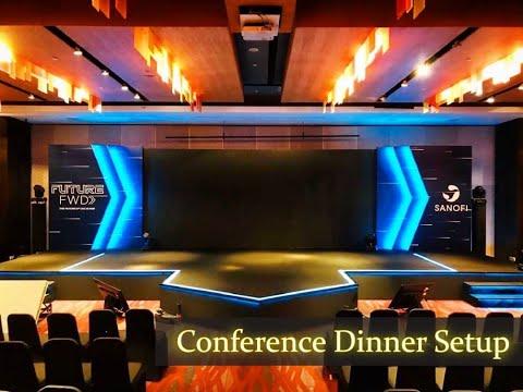 Event Conference Dinner 2020 [G Hotel, Penang] | Backdrop & Stage Setup with Lighting Effect