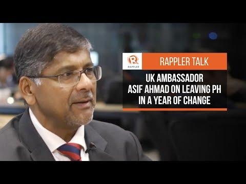 Rappler Talk: UK Ambassador Asif Ahmad on leaving PH in a year of change