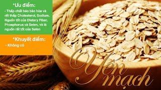 Giá trị dinh dưỡng của yến mạch. Thực phẩm giàu xơ tốt cho tim mạch