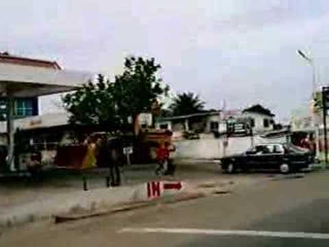 Taxi ride through Accra
