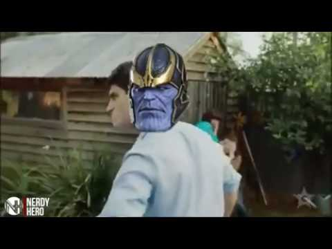 Thanos slaps the marvel universe