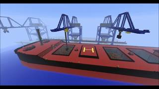 Minecraft Port and Cargo ship (Cargo ship at port)