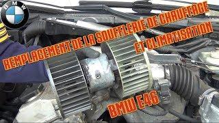 Remplacement de la soufflerie de chauffage et climatisation - [BMW E36]