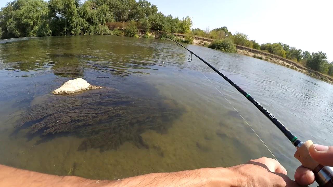 Риболов на кефал по река Марица - YouTube