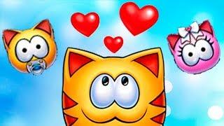 МяуСИМ ухаживаем за КОТЕНКОМ котенок болеет много тошнотиков СМЕШНО игровой мультик FGGTV