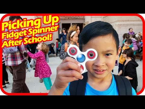 Thumbnail: Picking Up FIDGET SPINNER After School, Fidget Spinners Turning into Big Distraction at Many Schools