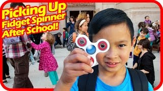 Picking Up FIDGET SPINNER After School, Fidget Spinners Turning into Big Distraction at Many Schools