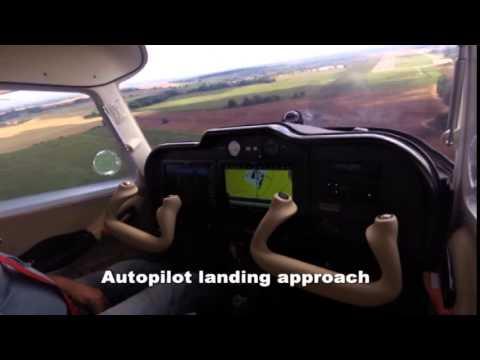 TL 3000 Sirius with Garmin G3X - full automatic landing approach