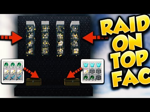 RAIDING A SUPER OP FACTION ON F-TOP!!! (Minecraft Factions) [12]