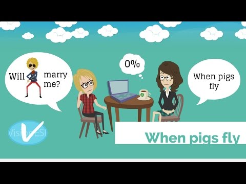 Learn English With Videos Todays Idiom Is When Pigs Fly