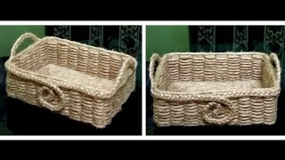 How to make a Jute Rope Basket