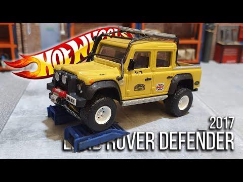 HOT WHEELS Custom : 2017 Land Rover '15 Defender 110 Pickup