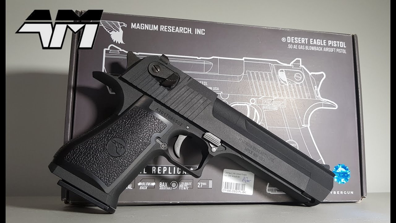 Cybergun Desert Eagle Fully Licensed Full Metal We Oem Airsoft Unboxing Review Youtube
