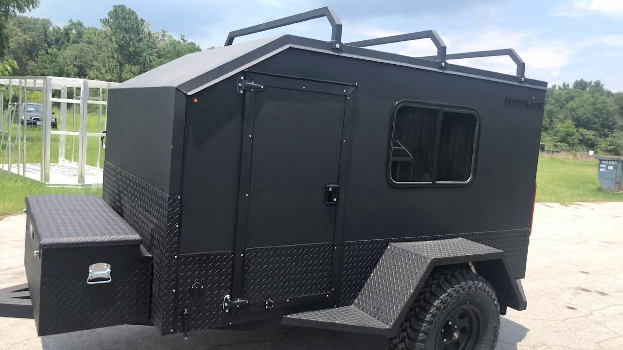 Offroad camper off road teardrop Weeroll mini camper - YouTube