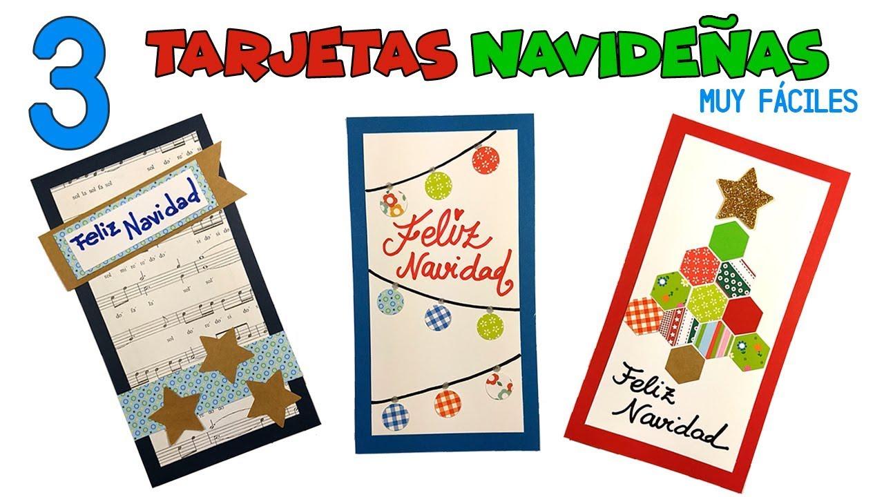 3 tarjetas de navidad f ciles manualidades navide as para - Como hacer tarjetas de navidad faciles ...