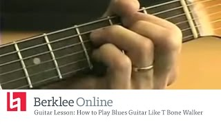 Berklee Online Guitar Lesson: How to Play Blues Guitar Like T Bone Walker