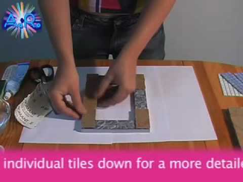 Make A Mosaic Picture Frame Home Decoration Project Art And