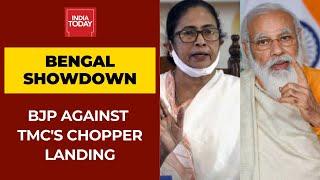 Bengal Showdown: BJP Asks Poll Panel To Deny Permission TMC's Chopper Landing Near PM's Rally Venue