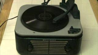 1952 WEBCOR MODEL # 123 F RECORD PLAYER .. SOME SWEET DAY .. LOUIS ARMSTRONG