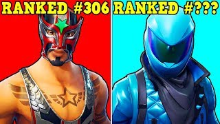 RANKING EVERY SKIN IN FORTNITE FROM WORST TO BEST! (ALL 306 SKINS!)