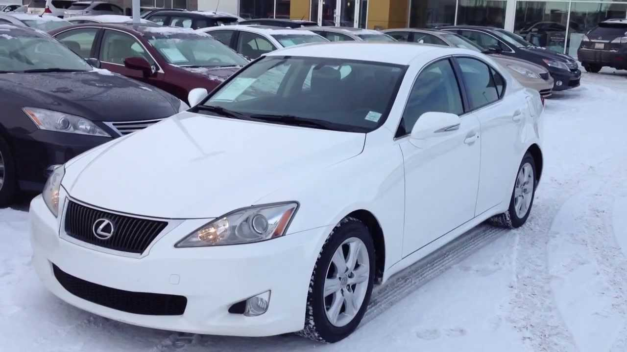 pre owned white 2009 lexus is 250 rwd calgary youtube. Black Bedroom Furniture Sets. Home Design Ideas