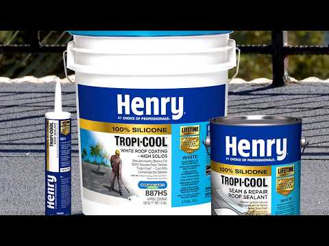 Why Use Henry Tropi Cool 100 Silicone White Roof Coating Youtube