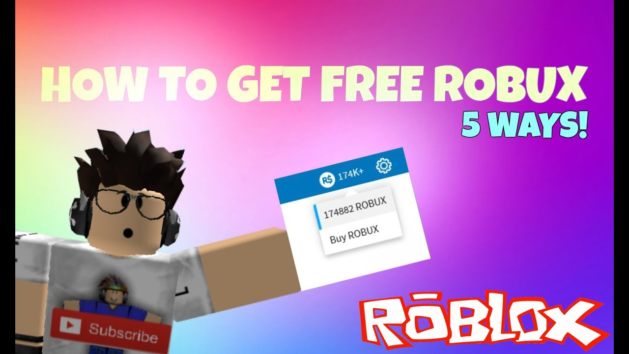 How to get Free Robux November 2016(5 WAYS) - YouTube