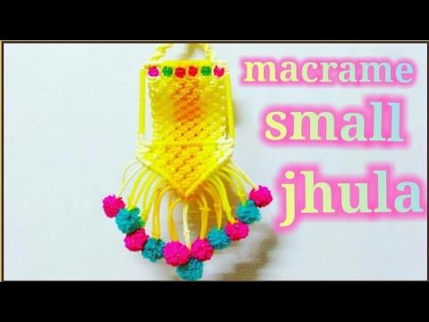 Simple DIY Tutorial Of Macrame Jhula Making Design-2 /Small/ Teddy ...