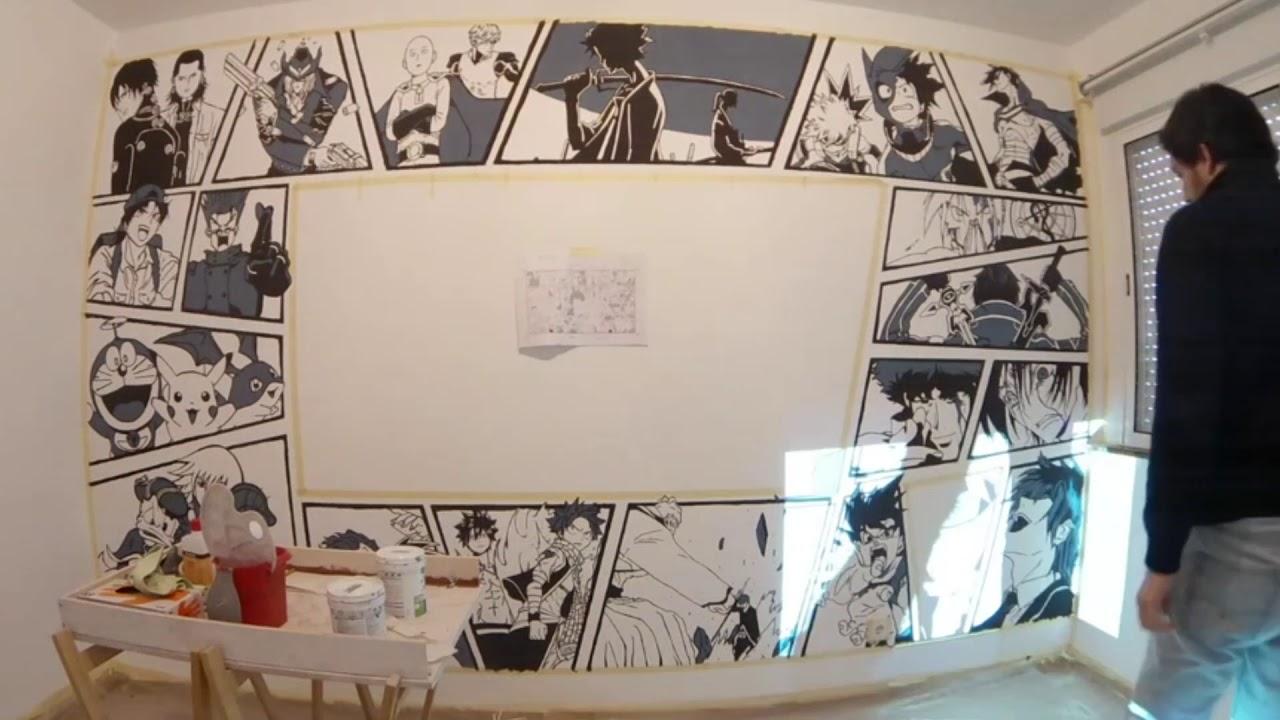 Speed Painting Anime Manga Wall Mural