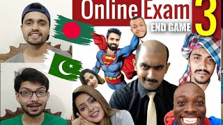 Pakistani Reaction Online Exam With Borzah | NSUser ARE AWESOME | English Subtitle 🇧🇩😂