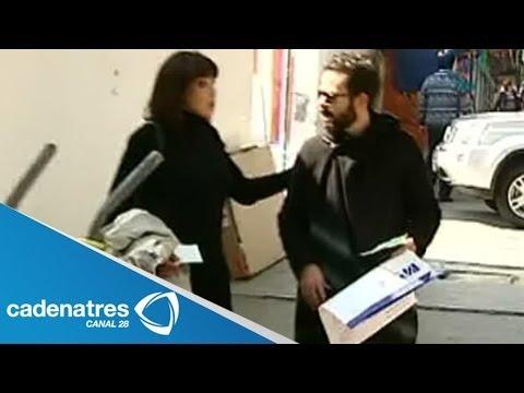 José María Torre y Fátima Torre acompañan a su mamá al hospital a una revisión