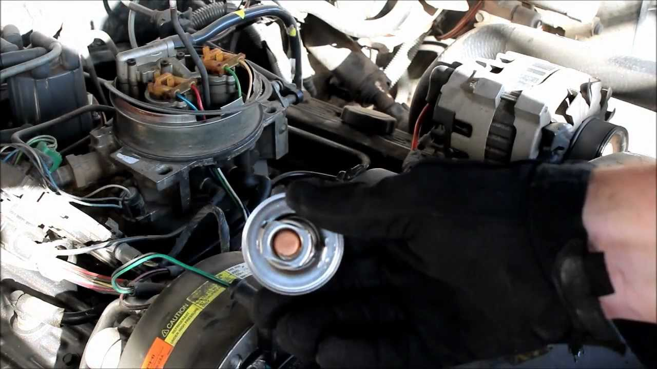 how to replace a thermostat on a chevy truck youtube chevy 350 distributor wiring diagram chevy v6 distributor wiring diagram