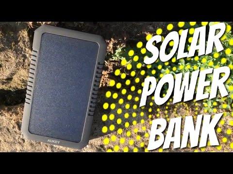 Gratis STROM mit der SOLAR Power Bank von AUKEY - Review Test